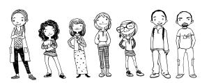personajele principale